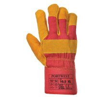 Fleece Lined Rigger Glove  Red