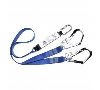 Double Webbing Lanyard With Shock Absorber