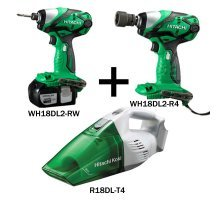 Kit - Impact Wrench, Impact Driver, Vacuum Cleaner