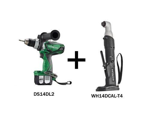 Set - Cordless Drill Driver, Angle Impact Driver