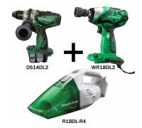 Kit - Impact Wrench, Cordless Drill Driver, Vacuum Cleaner